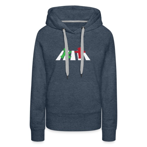 ampelmannchen on crosswalk - Women's Premium Hoodie