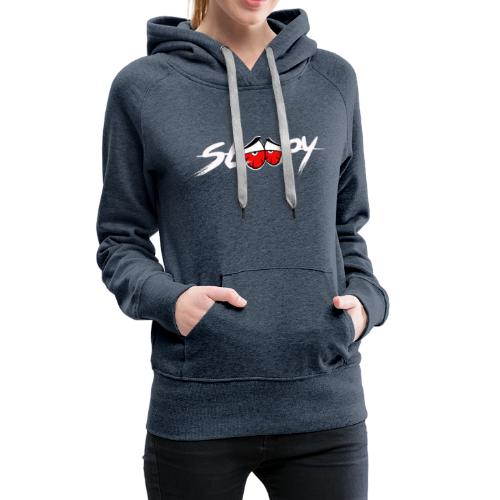 Sleepy Logo White/Red Eyes - Women's Premium Hoodie