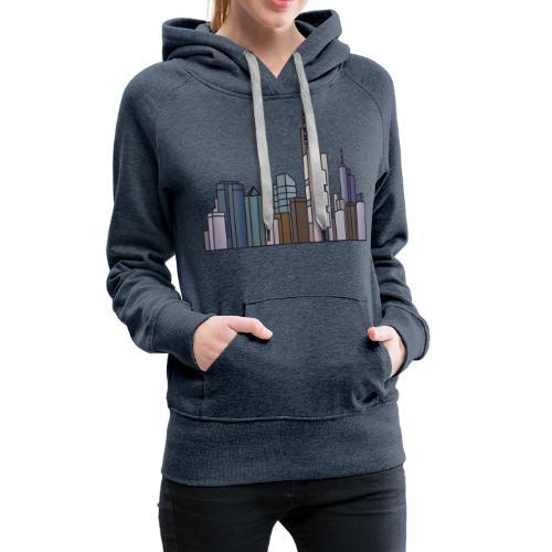 Frankfurt skyline - Women's Premium Hoodie