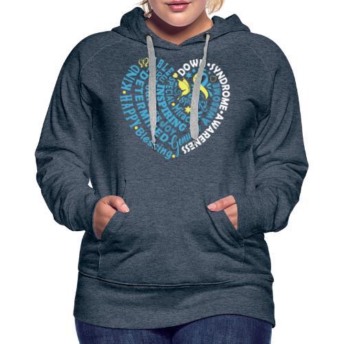 Heart Wordle - Women's Premium Hoodie