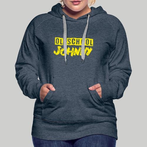 Ol' School Johnny Logo in Yellow - Women's Premium Hoodie