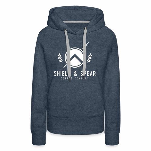 Shield and Spear White Logo - Women's Premium Hoodie