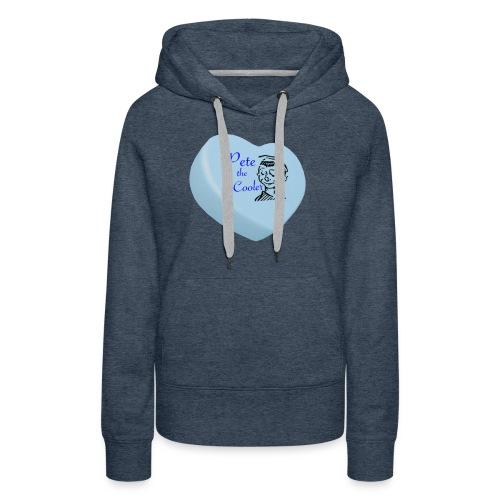 Pete the Cooler Candy Heart - blue - Women's Premium Hoodie