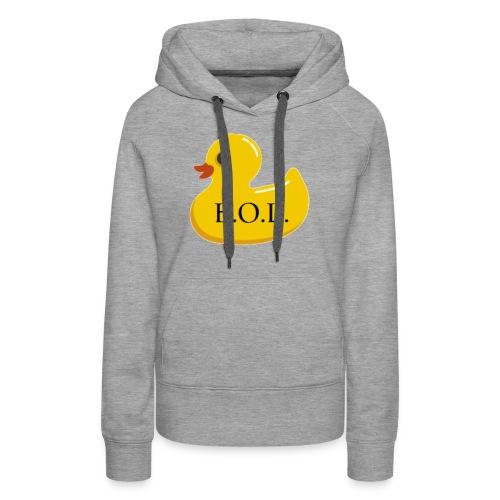 Official B.O.L. Ducky Duck Logo - Women's Premium Hoodie
