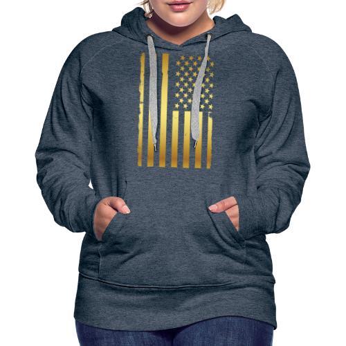 Golden american flag - Women's Premium Hoodie