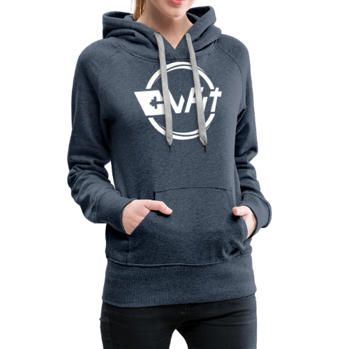 CWFit Logo White - Women's Premium Hoodie