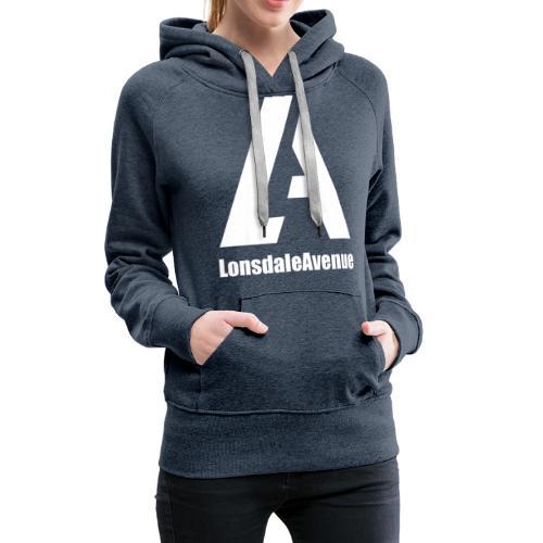 Lonsdale Avenue Logo White Text - Women's Premium Hoodie