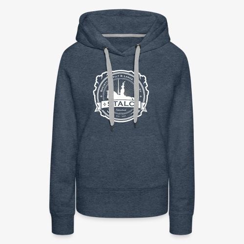 STALC Logo White only - Women's Premium Hoodie