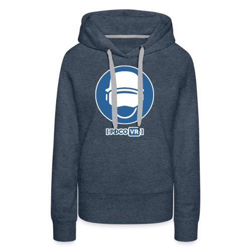PDCO Logo - White Outlined - Women's Premium Hoodie
