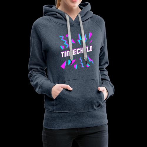 Timechyld Logo with Retro Pattern - Women's Premium Hoodie