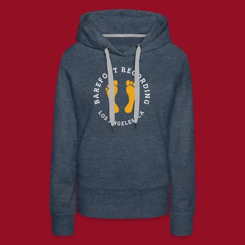 Barefoot Recording Circular Logo - Women's Premium Hoodie