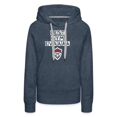 Best Gym Evaaa White and Red - Women's Premium Hoodie