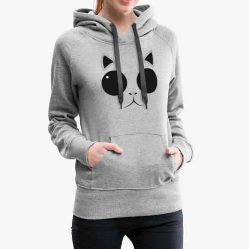 Hipster Cat T-Shirt - Women's Premium Hoodie