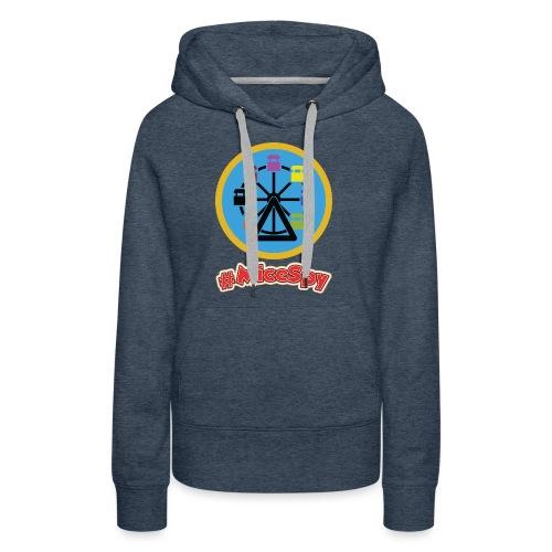 Mickeys Fun Wheel Explorer Badge - Women's Premium Hoodie