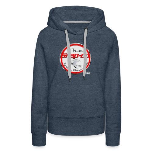 red logo white youtube - Women's Premium Hoodie