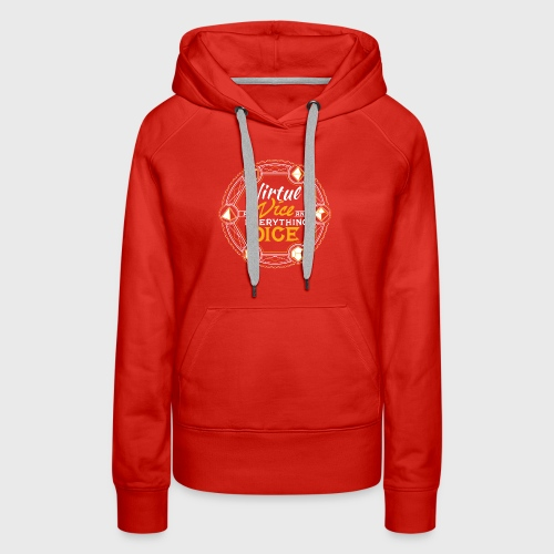 Dungeons RPG Dice d20 Virtue and Vice and Dice - Women's Premium Hoodie