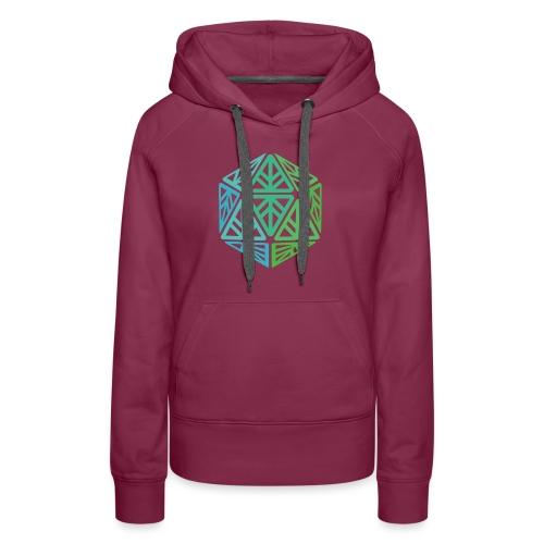 Green Leaf Geek Iconic Logo - Women's Premium Hoodie