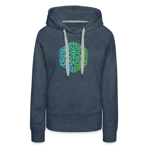 Green Leaf Geek Iconic Logo - Women's Premium Hoodie