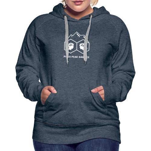 Pikes Peak Gamers Logo (Transparent White) - Women's Premium Hoodie