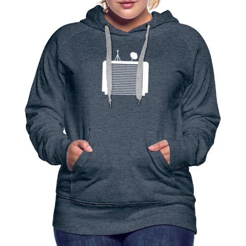 TechGarage White Logo - Women's Premium Hoodie