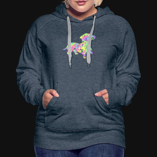 dachshund silhouette splatter - Women's Premium Hoodie
