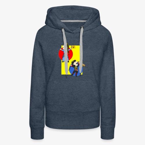 Cartoon - Pontios/lyra & Pontia/flag - Women's Premium Hoodie