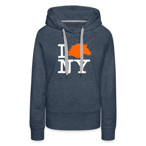 I Unicorn New York (Kristaps Porzingis) - Women's Premium Hoodie