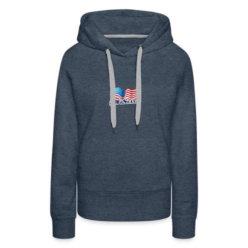 We Stand Waving Flag - Women's Premium Hoodie