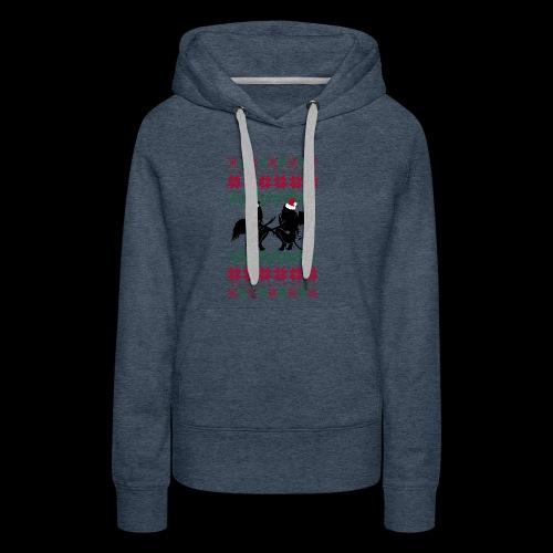 Gastric Girls Gab Ugly X-Mas Sweater - Women's Premium Hoodie