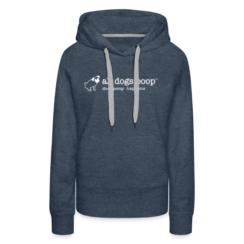 all dogs poop logo 3000px - Women's Premium Hoodie