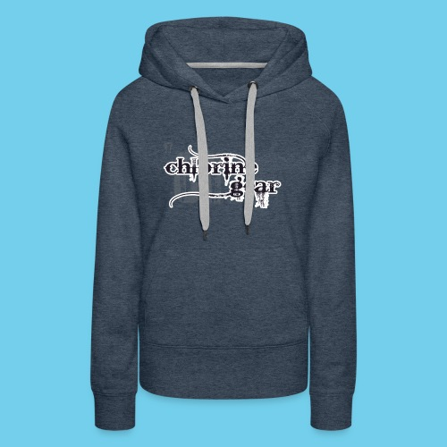 Chlorine Gear Textual stacked Periodic backdrop - Women's Premium Hoodie