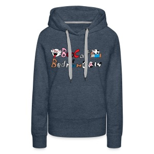 Boo Cat And Bedroom Cow - Women's Premium Hoodie