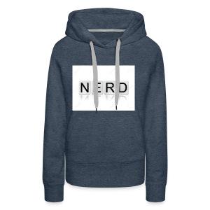 66188244 The word Nerd written in tile letters iso - Women's Premium Hoodie