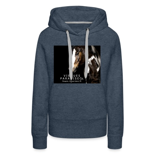 vieques island paradise horse poster - Women's Premium Hoodie