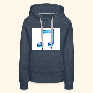 music note icon - Women's Premium Hoodie