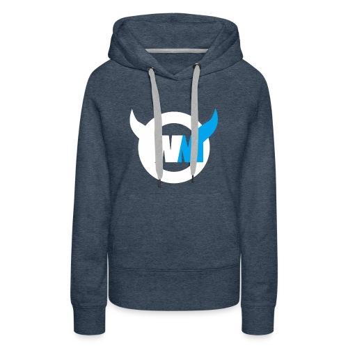 WTFMoses Logo white/blue - Women's Premium Hoodie