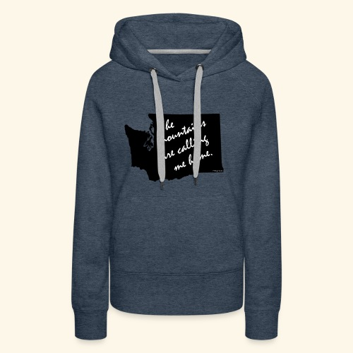 Washington mountains - Women's Premium Hoodie