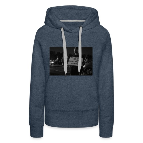 no justice no peace know justice know peace - Women's Premium Hoodie