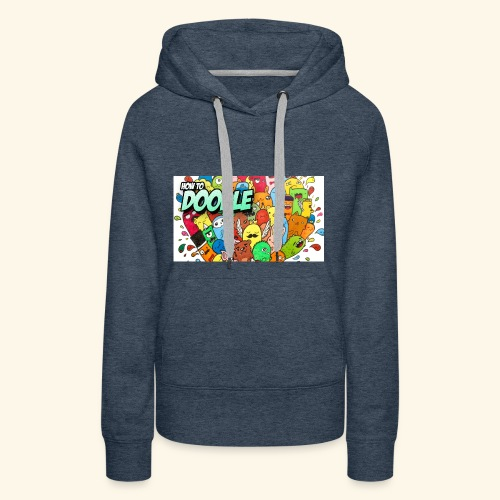 DOODLE SQUAD SPECIAL EDITION HOW TO DOODLE - Women's Premium Hoodie