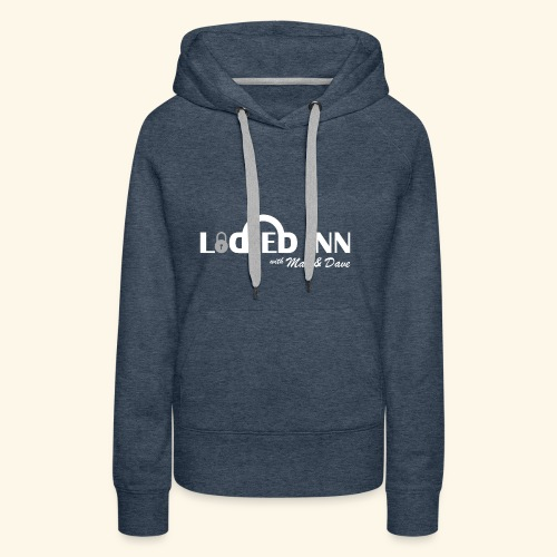 locked inn logo white - Women's Premium Hoodie