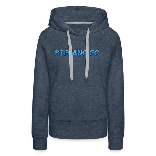 Blue Stefano FC Text - Women's Premium Hoodie