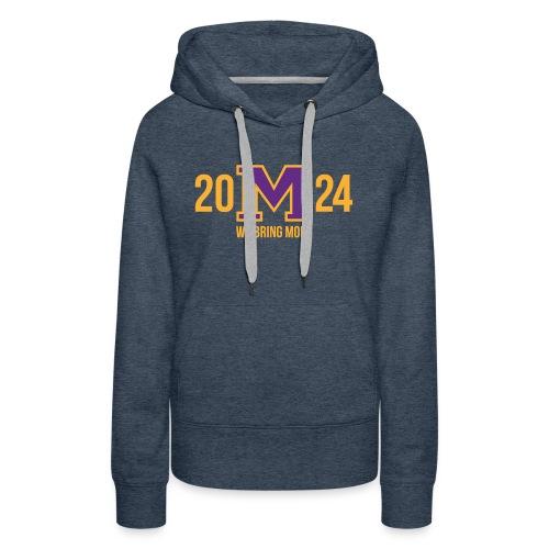 M 24 2024 Purple/Gold - Women's Premium Hoodie