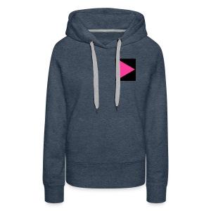Pink-play button - Women's Premium Hoodie