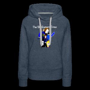 THE SKYGAMERS CREW HOODIE NEON BLUE - Women's Premium Hoodie