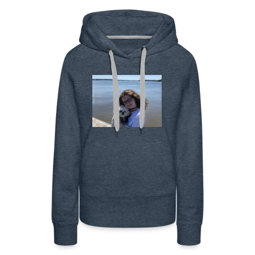 Cute Merch With Dog And Girl - Women's Premium Hoodie