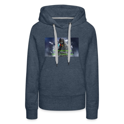 Cracked Reality Gaming Logo - Women's Premium Hoodie