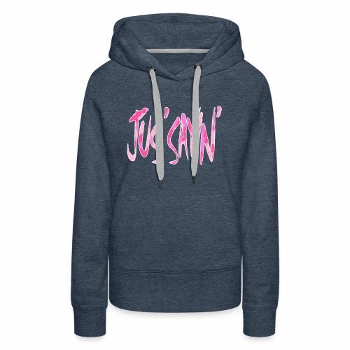 JUS SAYIN - PINK CAMO - Women's Premium Hoodie