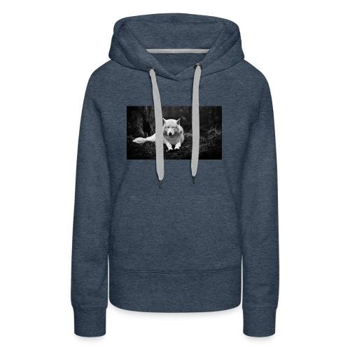 Slick White Wolf - Women's Premium Hoodie