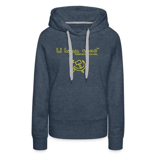 Full Li Huan Chao Logo Black+Yellow - Women's Premium Hoodie