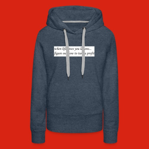 when life gives business man lemons - Women's Premium Hoodie